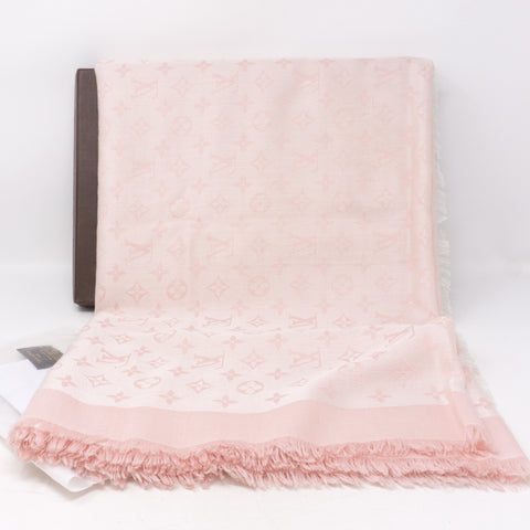Pink Monogram Denim Shawl