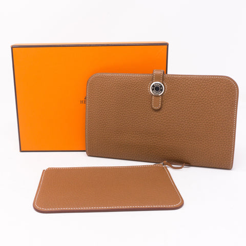 Dogon Duo Wallet Gold Leather