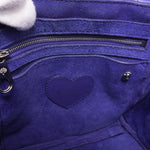 Cara Delevingne Mini Backpack Indigo Leather