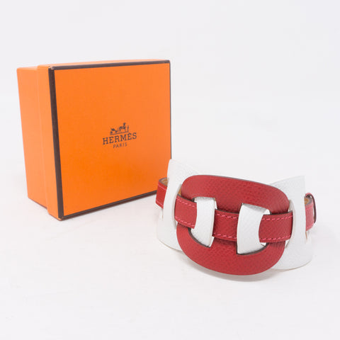 Fétiche Leather Bracelet Red White