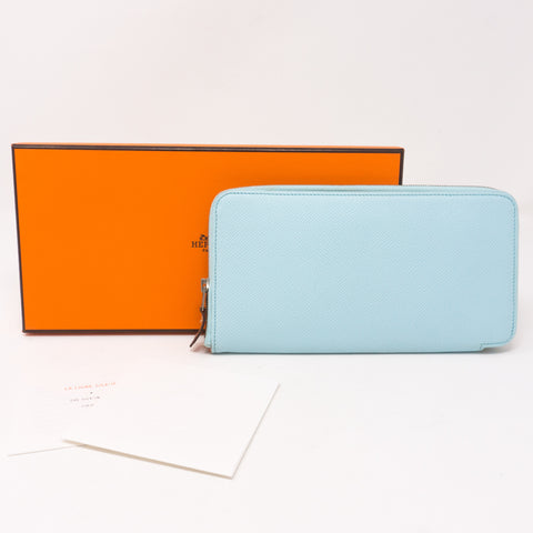 Silk'in Classic Wallet Blue Leather