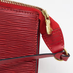 Pochette Accessoires Red Epi Leather