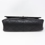 Reissue 2.55 227 Double Flap Bag Black Leather