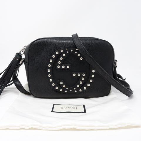Disco Soho Studded Black Leather