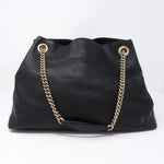 Soho Tassel Chain Black Leather Bag