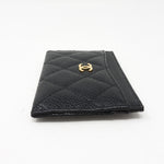 Classic Card Holder Black Caviar Leather