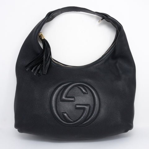 Soho Hobo Large Black Leather