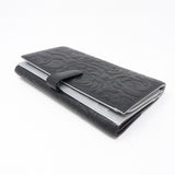 Camelia Long Wallet Black Leather