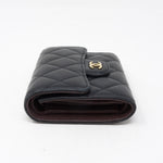 Classic Compact Wallet Black Leather