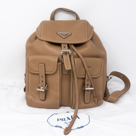 City Sport Backpack Caramel Leather