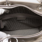 Lady Dior Large Pearl Grey Patent Leather