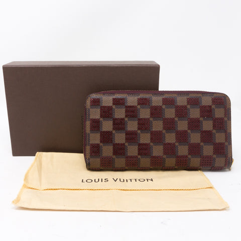 Zippy Wallet Damier Paillettes Red