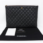 O-Case Large Black Caviar Leather