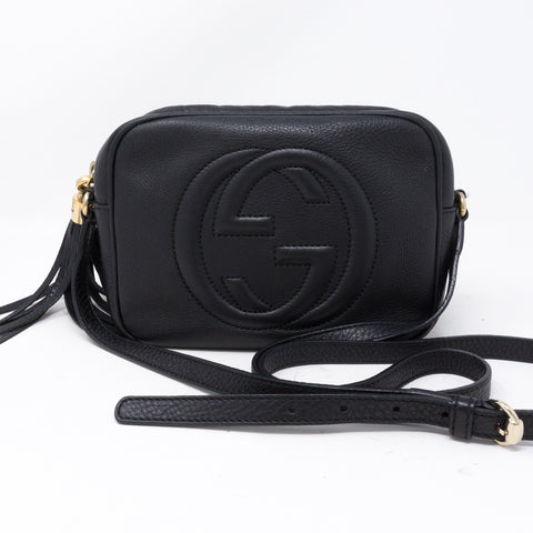 Disco Soho Black Leather Bag