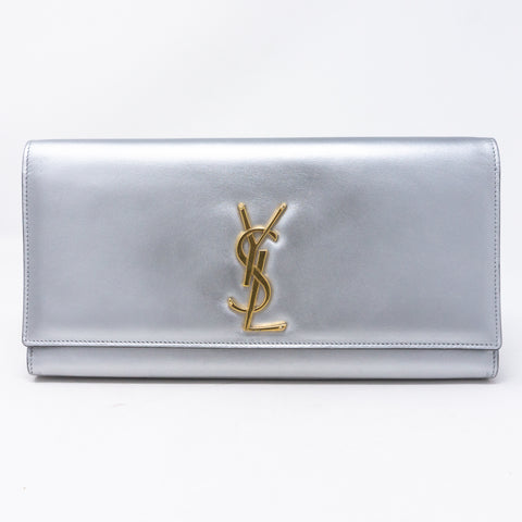 Kate Clutch Silver Leather