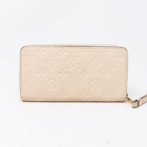 Zippy Wallet White Monogram Empreinte