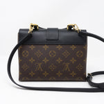 Locky BB Monogram Black Leather