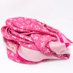 Monogram Denim Shawl Pivoine