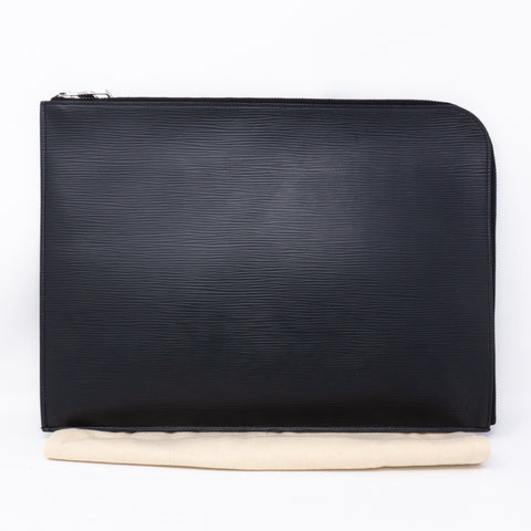 Pochette Jour GM Black Epi Leather