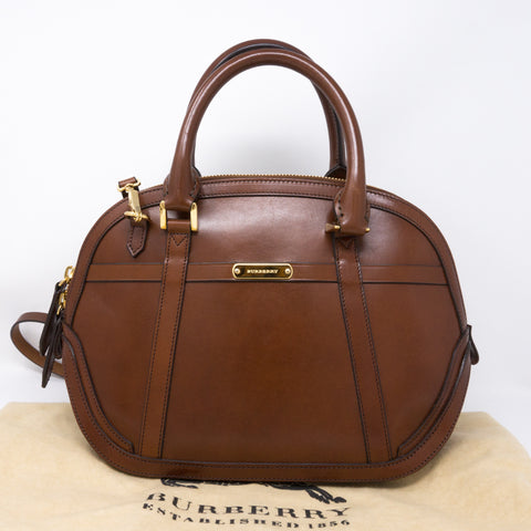 Bridle Handbag Brown Leather