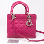 Lady Dior Medium Pink Leather