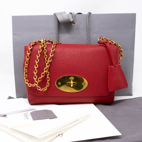 Lily Small Red Leather