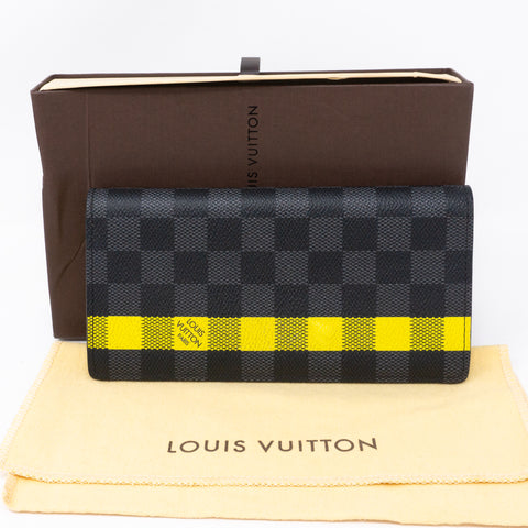 Brazza Wallet Damier Graphite Yellow Stripe