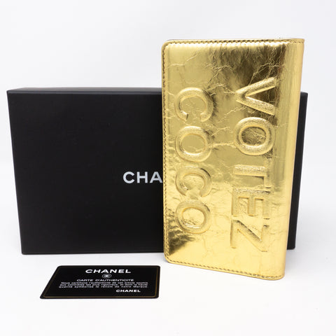 Votez Coco Classic Wallet Gold Leather