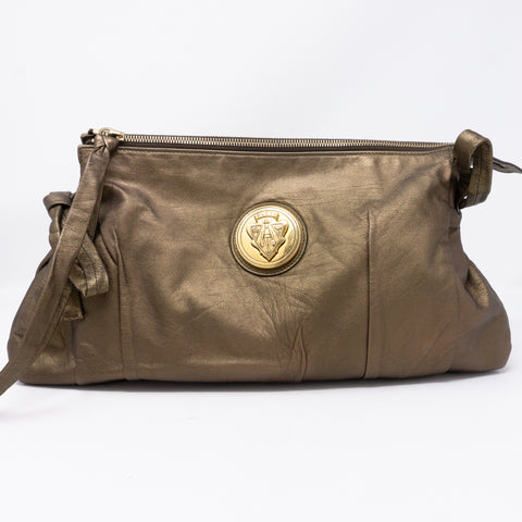 Hysteria Clutch Bronze Leather