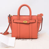 Micro Zipped Bayswater Coral Rose Leather