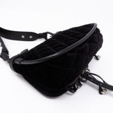 Corsaire Black Velvet Leather Bag