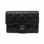 Classic Flap Card Case Black Caviar