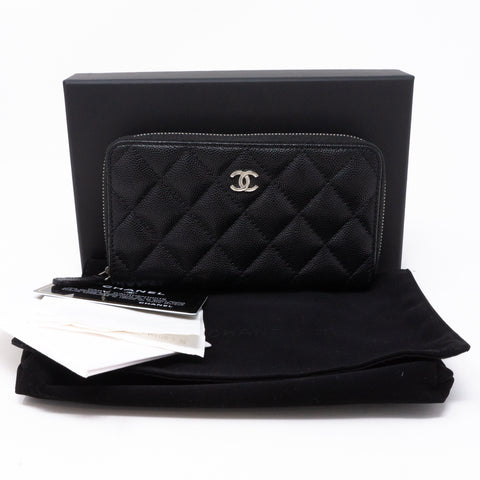 Medium Zipped Wallet Black Caviar
