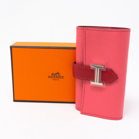 Bearn 6 Key Holder Pink Leather