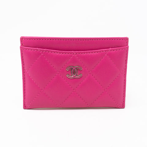 Card Holder Pink Leather