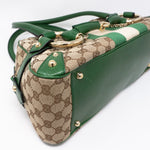 Horsebit Chain Shoulder Bag Green