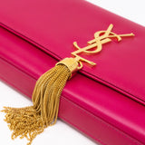 Kate Clutch Tassel Pink Leather
