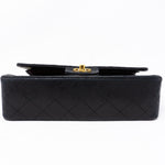 Classic Double Flap Small Black Gold