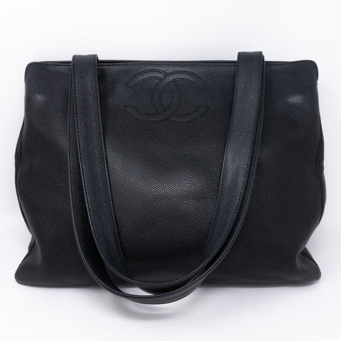 CC Shoulder Tote Black Caviar