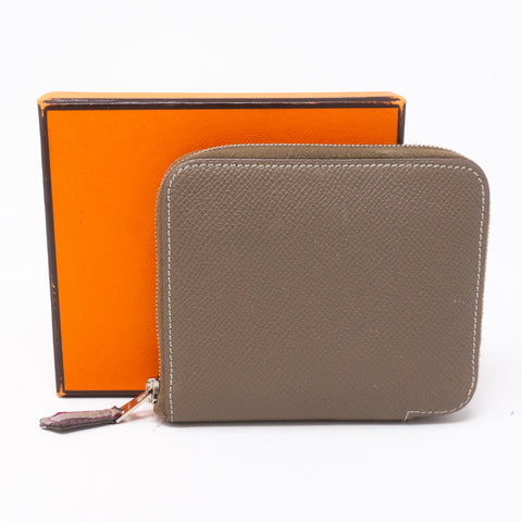 Silk'in Compact Wallet Etoupe Leather
