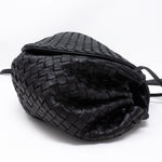 Intrecciato Drawstring Flap Crossbody Bag