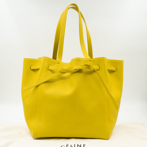 Cabas Phantom Tote Yellow Leather