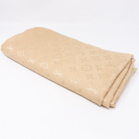 Monogram Denim Shawl Beige