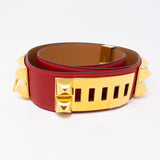 Collier de Chien Belt Red Leather