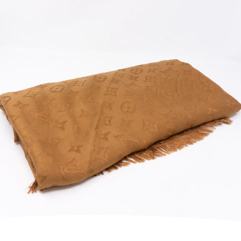 Monogram Shawl Brown
