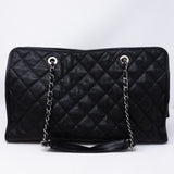 Quilted Shopping Tote Black Caviar