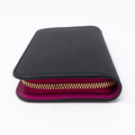 Diorissimo Voyageur Wallet Medium Black Leather