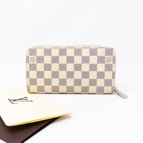 Zippy Wallet Damier Azur