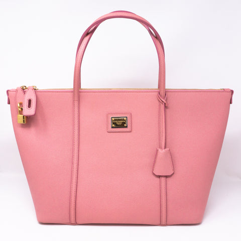 Miss Escape Tote Pink Leather