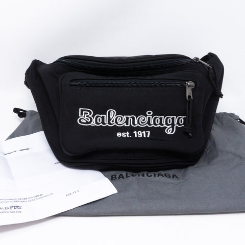 Explorer Nylon Belt Bag Black